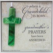 Grandma Gifts Canada-The Grandparent Gift When A Grandchild Is Born Glass Cross Grandma Keepsake Gift
