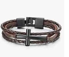 Three-Row Genuine Leather Wristband