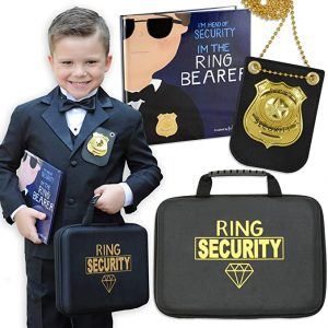 Ring Bearer Gifts Canada-Tickle & Main - Ring Bearer Gift Set - Includes Book, Badge, and Wedding Ring Security Briefcase. I'm Head of Security