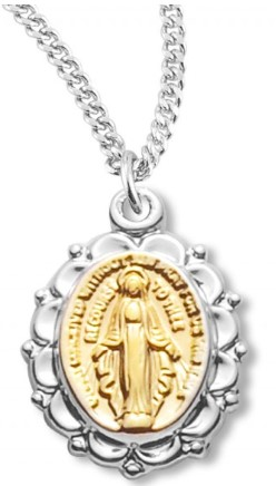 Two-Tone Miraculous Medal Chain
