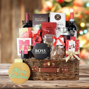 Cool Christmas Gifts Canada-WINE & CHEESE CHRISTMAS GIFT SET