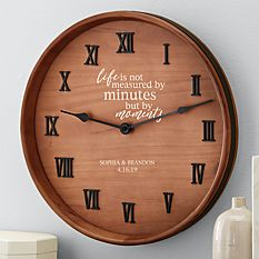 Cool Christmas Gifts Canada-When Minutes Turn to Moments Wine Barrel Clock
