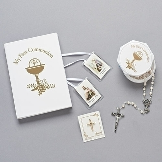 White/Gold First Communion Gift Set