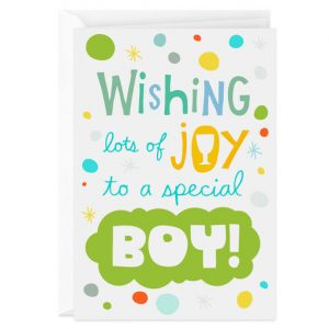 Hallmark Canada First Communion Gifts-Wishing Lots of Joy to a Special Boy First Communion Card