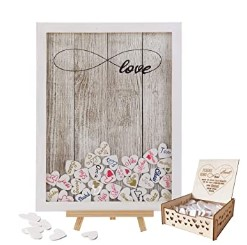 Y&K Homish Wedding Guest Book Wooden Picture Frame