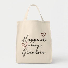 Grandma Gifts Canada-grandma's tote - happiness is being a grandma