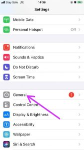 How to Change AirDrop Name-General Settings