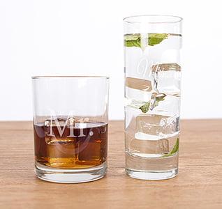 Mr. & Mrs. Cocktail Set