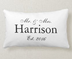 Mr. and Mrs. Personalized Wedding Pillow2 Lumbar Pillow