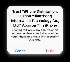 Trust iPhone Distribution