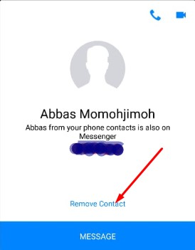 how to delete people from messenger
