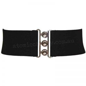 Black Elastic Waist Cinch Belt