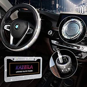 universal accessories for cars-Bling Car Accessories Set for ladies