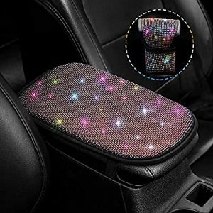 universal accessories for cars-Bling Car Armrest Cover and kit Shift Knob Cover 2 Pack Set