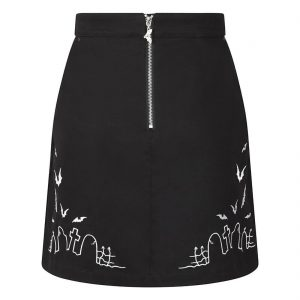 Alternative Plus Size Clothing-Cullen Graveyard Mini Skirt