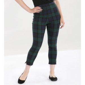 Alternative Plus Size Clothing-Evelyn Tartan Cigarette Trousers