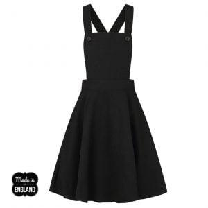 Alternative Plus Size Clothing-Hell Bunny Amelie Retro Pinafore Dress – Black