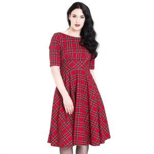Alternative Plus Size Clothing-Irvine 50's Dress – Red Tartan