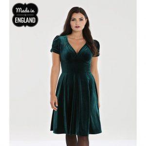 Alternative Plus Size Clothing-Joanne Velvet Party Dress – Green