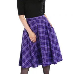 Alternative Plus Size Clothing-Kennedy Tartan Plaid Skirt – Purple