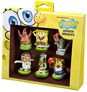 Spongebob Accessories for Cars-Officially Spongebob 6 Piece Mini Aquarium Ornament Set – Great for Saltwater and Freshwater Tanks