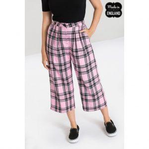 Alternative Plus Size Clothing-Riot Tartan Culottes – Pink