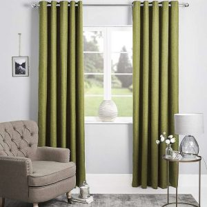 Bennett Uncoated Textured Plain Eyelet Curtain 220cm & 250cm Drop