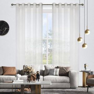 Blizzard Sheer Eyelet Curtain 220cm & 250cm Drop