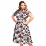 Indie Clothing Australia-Caterina Gingham Watermelon Swing Dress
