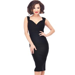 Indie Clothing Australia-Steady Clothing Diva Pin Up Wiggle Pencil Dress