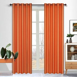 Curtains in Australia Taj Faux Silk Eyelet Curtain