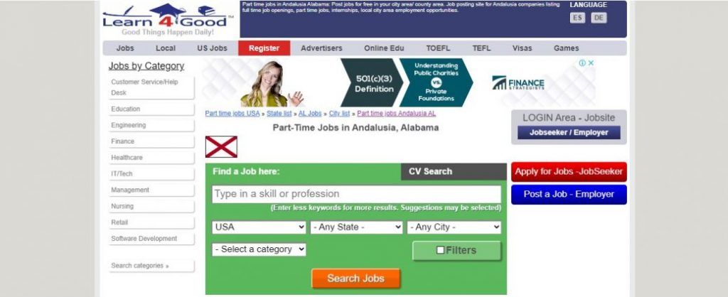 part time jobs in Andalusia, al