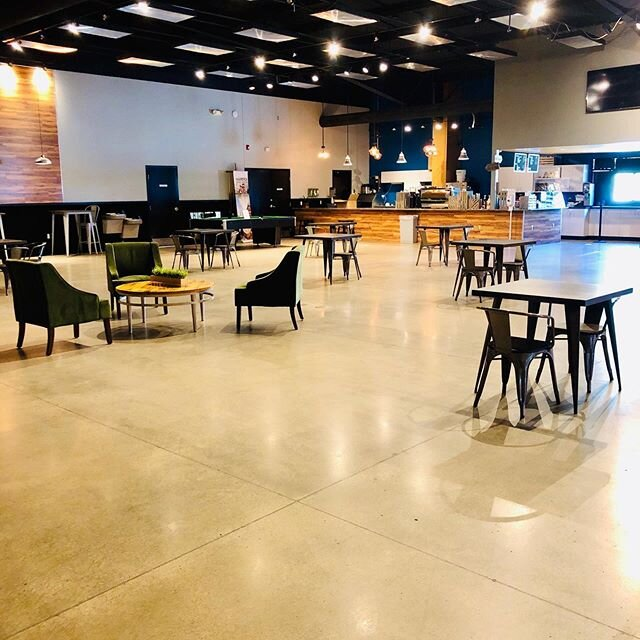 Looking for a change of scenery to get work done? We have plenty of spread out seating options! Stop in today we are open 8am- 3pm.