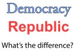 What is the difference between a republic and a democracy