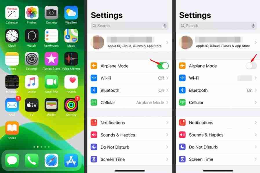 reset network settings iphone