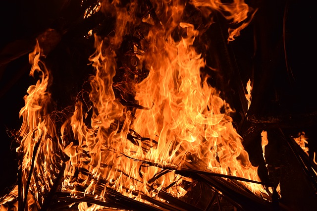 What type of fire can be put out with water