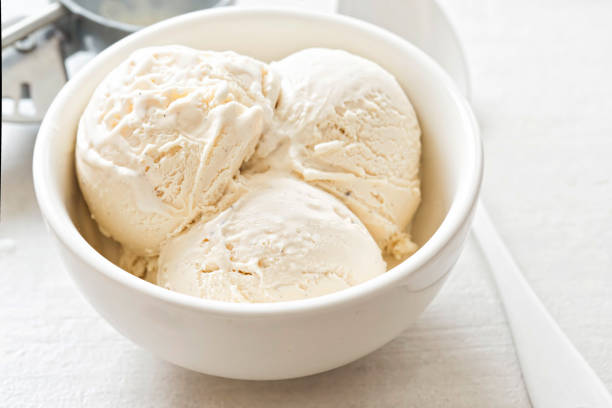 Homemade Ice Cream with Sweetened Condensed Milk and Whole Milk