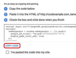 How to add AdSense to GoDaddy 2