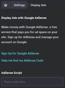 How to add AdSense to GoDaddy 1