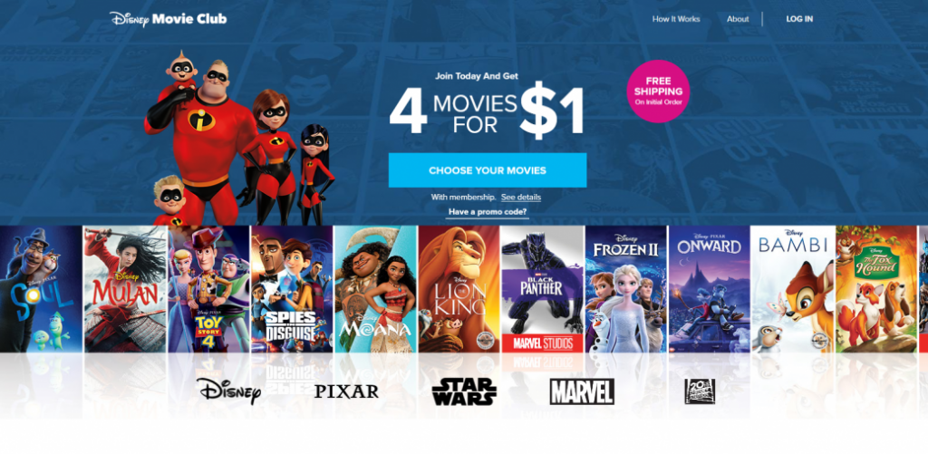 Disney Movie Club - moviegaga alternative