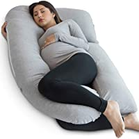 PharMeDoc Pregnancy Pillow, Grey U-Shape Full Body Pillow and Maternity Support - Support for Back, Hips, Legs, Belly…