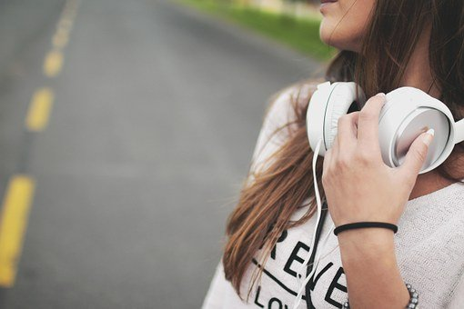 Girl, Music, Headphones, Hipster, Young