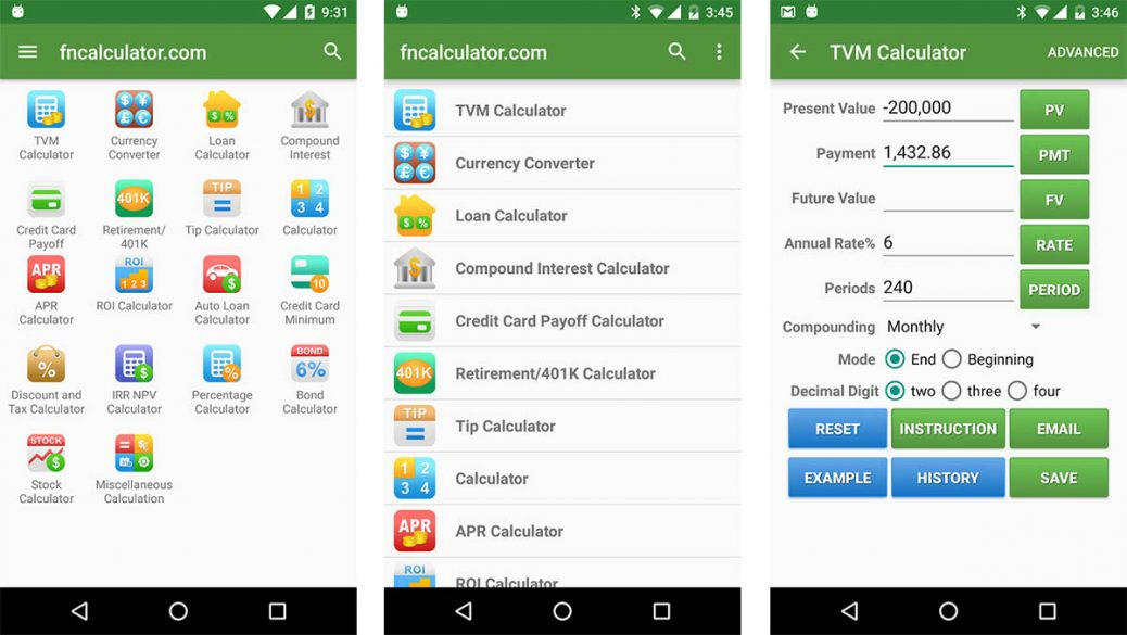 FInancial Calculators is one of the best budget apps