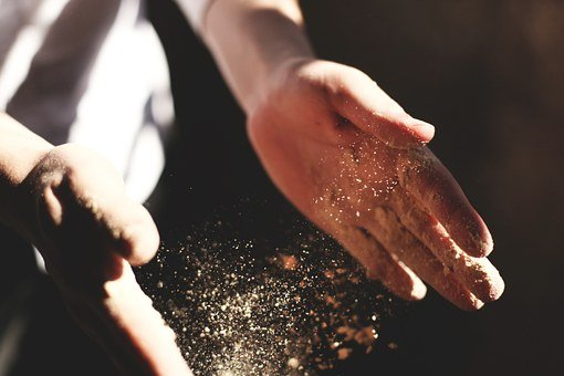 Hands, Clapping, Dust, Flour, Bakery