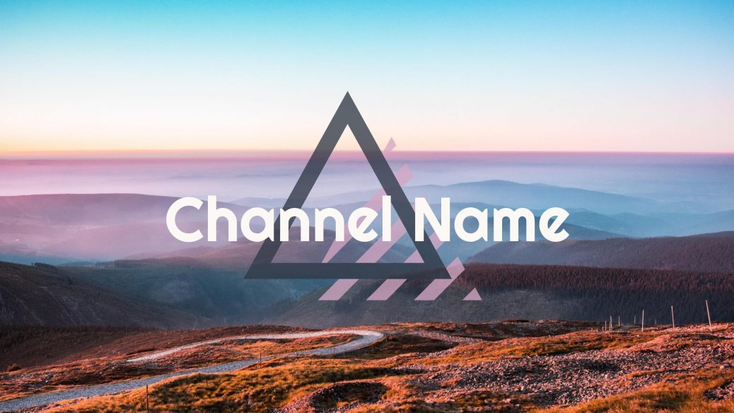 Travel YouTube channel banner with channel name text