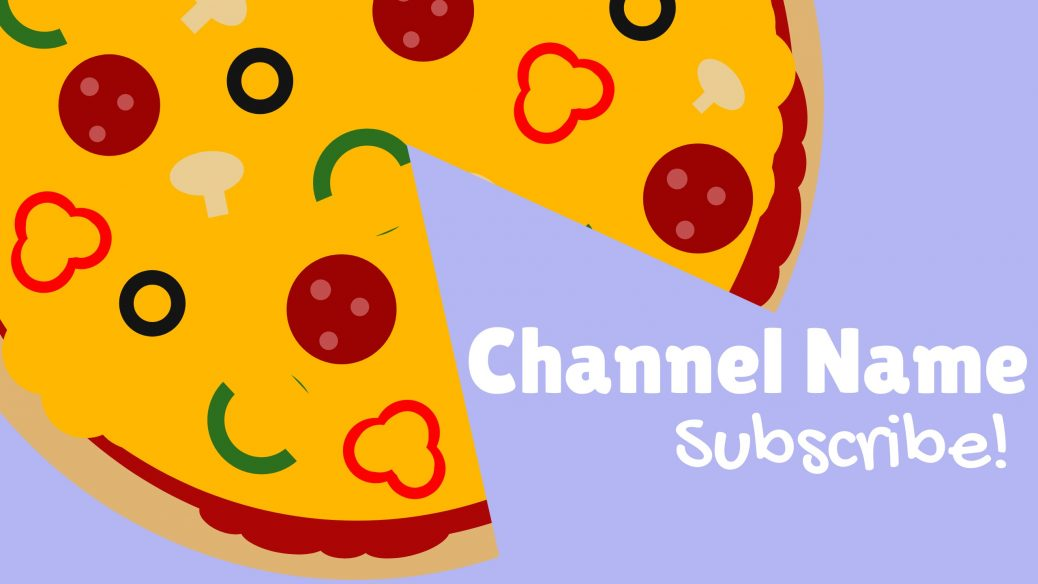 Pizza YouTube channel art with channel name text