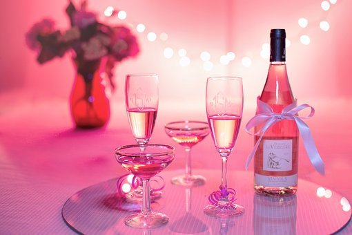 Pink Wine, Champagne, Celebration, Pink
