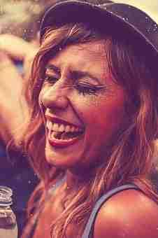 Woman, Smiling, Party, Enjoying, Fun