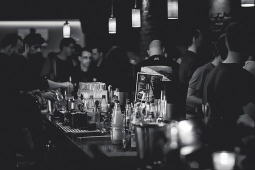 Bar, People, Bottles, Beverages, Alcohol